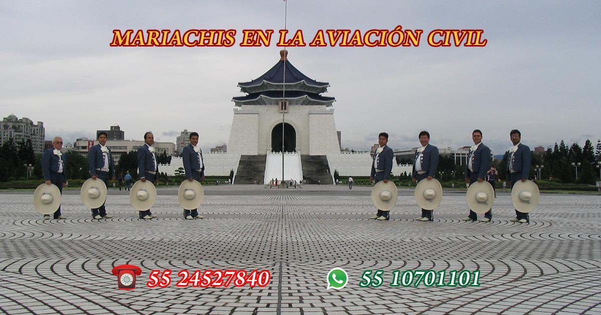 Mariachis en La Aviación Civil