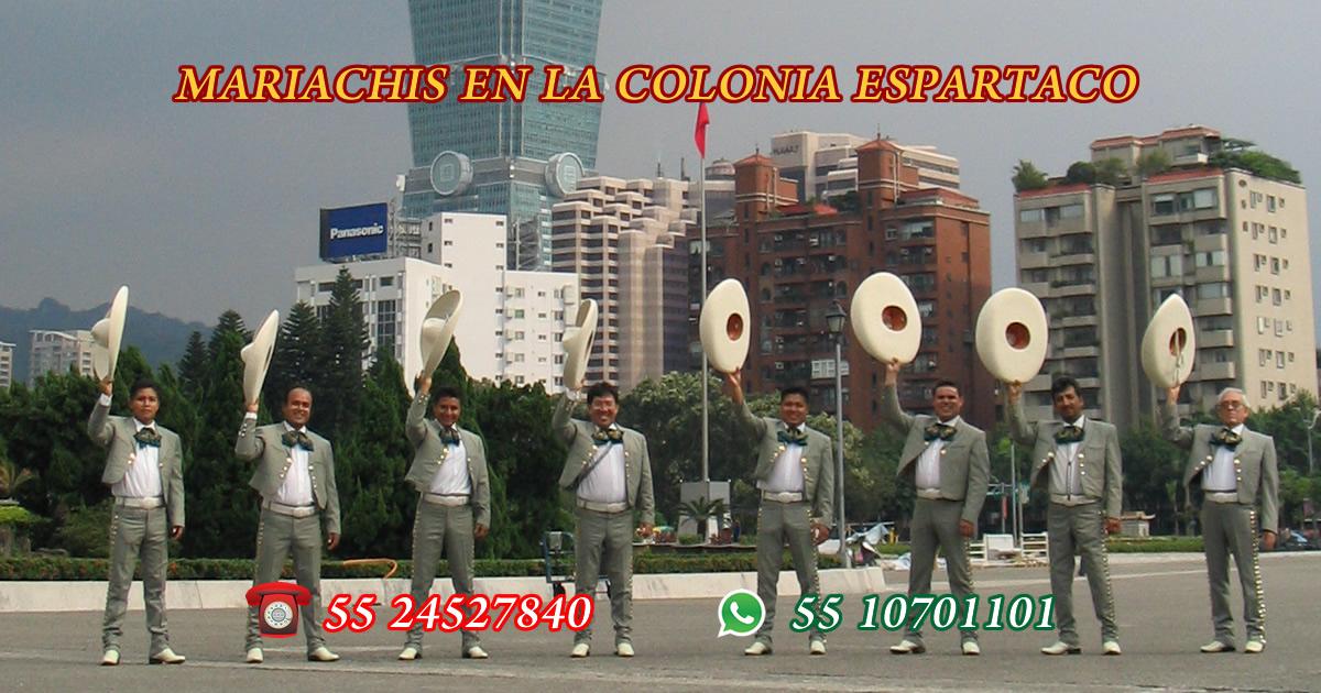 Mariachis en Colonia Espartaco