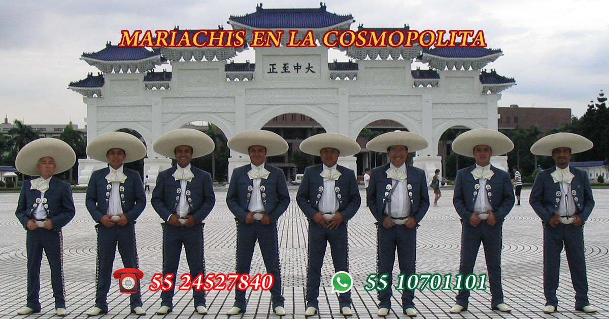 Mariachis en La Cosmopolita