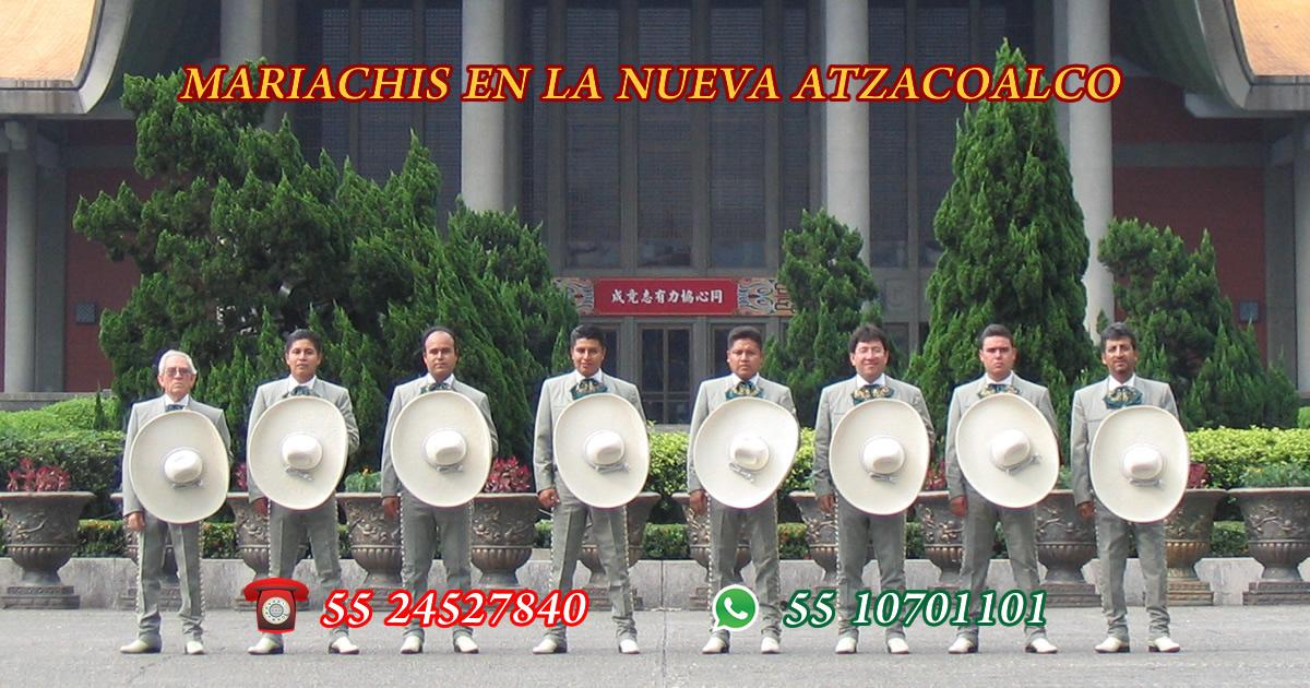 Mariachis en La Nueva Atzacoalco