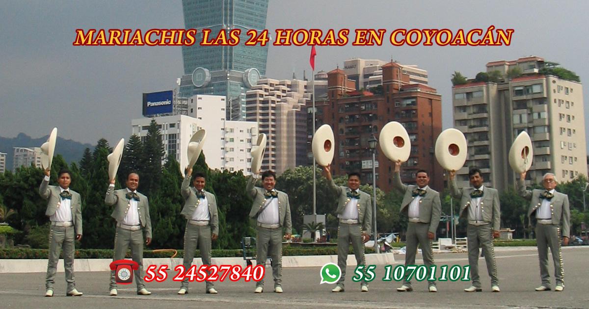 mariachis las 24 horas en coyoacan